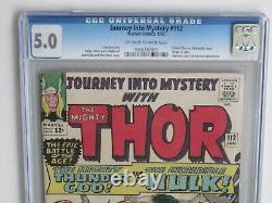 JOURNEY INTO MYSTERY (THOR) # 112 US MARVEL 1964 THOR vs HULK CGC 5.0 VG-FN