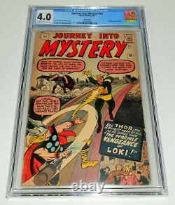 JOURNEY INTO MYSTERY no. 88 CGC 4.0 Marvel 1963 2nd app LOKI rare PENCE VARIANT