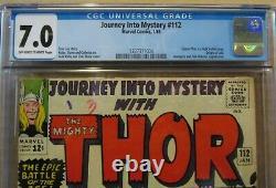 JOURNEY into MYSTERY #112 CGC 7.0, ORIGIN LOKI THOR VS HULK! AVENGERS & SUB-MAR