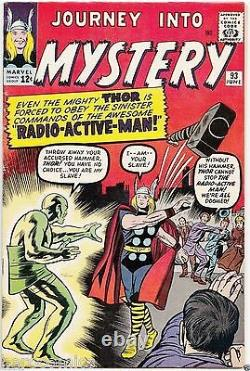 JOURNEY into MYSTERY # 93 Early THOR MARVEL Silver Age KIRBY DITKO VF+