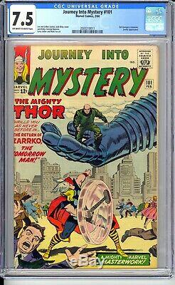 Journey Into Mystery #101 Cgc 7.5 Vf- Really Nice Off White To White Pages