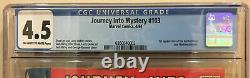 Journey Into Mystery #103 Cgc 4.5 1st Appearance Of Enchantress And Executioner