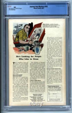 Journey Into Mystery #103 Cgc Vf+ 8.5 1964 Marvel Comics Thor 1st Enchantress