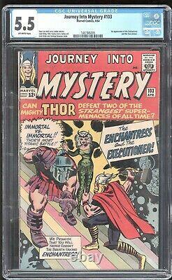 Journey Into Mystery #103 Marvel 1964 CGC 5.5 FN- 1st Enchantress (Sylvie)