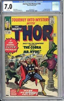 Journey Into Mystery #105 Cgc 7.0 F/vf Original Owner! Exceptional White Pgs