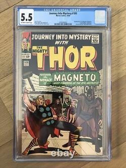 Journey Into Mystery #109 CGC 5.5 (1964) 1st Magneto Crossover Thor, Marvel