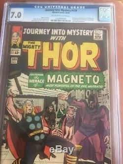 Journey Into Mystery 109 CGC 7.0 OWithW Thor Magneto Jack Kirby Stan Lee SWEET