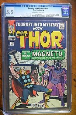 Journey Into Mystery #109 Magneto, Scarlet Witch, Quicksilver CGC 5.5 1964