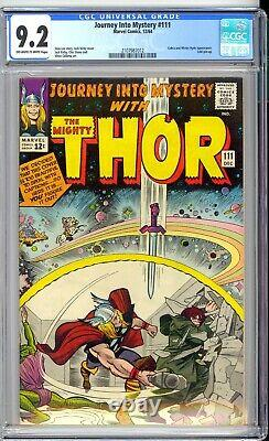 Journey Into Mystery #111 Cgc 9.2 Nm- Nice Off White To White Pages