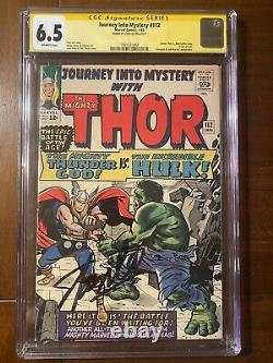 Journey Into Mystery #112 1/65 Cgc 6.5 Ow Ss Stan Lee! Early Hulk Crossover