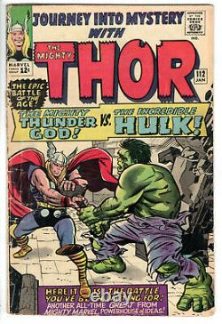 Journey Into Mystery #112 (1965) Grade 4.5 Versus The Incredible Hulk