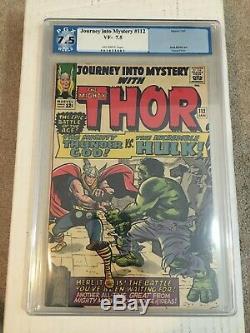 Journey Into Mystery #112 1st Thor Vs Hulk PGX 7.5 KEY