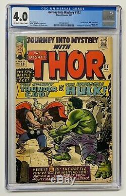 Journey Into Mystery #112 CGC 4.0 1st App Thor vs Hulk Origin LOKI