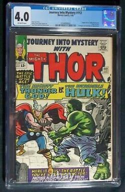 Journey Into Mystery #112 CGC 4.0. Classic Thor vs Hulk Battle, Origin of Loki