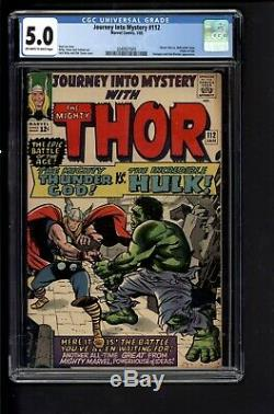 Journey Into Mystery #112 CGC 5.0 Jan 1965 Marvel Thor vs Hulk