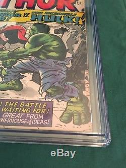 Journey Into Mystery #112 CGC 7.0 Hulk Vs Thor! Story Stan Lee ArtJack Kirby