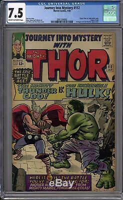 Journey Into Mystery #112 CGC 7.5 (C-OW) Classic Hulk Vs Thor