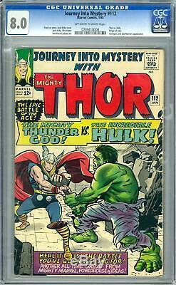 Journey Into Mystery #112 CGC 8.0 (OW-W) Thor vs. Hulk. Origin of Loki