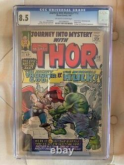 Journey Into Mystery #112 CGC 8.5 Origin of Loki! Thor vs Hulk