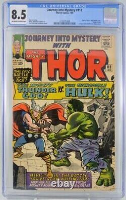 Journey Into Mystery #112 CGC 8.5 Thor Hulk Battle cover Origin Loki Kirby art