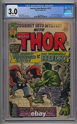 Journey Into Mystery #112 Cgc 3.0 Thor V. Hulk Origin Of Loki