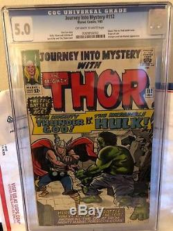 Journey Into Mystery 112 Cgc 5. Nice Copy Bright Colors Clean Cover