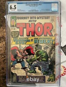 Journey Into Mystery #112 Cgc 6.5 Loki's Origin / Classic Hulk Vs Thor Battle