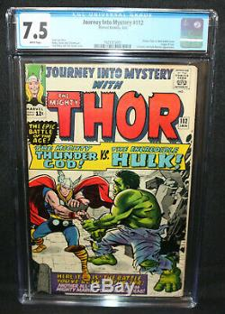 Journey Into Mystery #112 Classic Thor vs. Hulk Battle CGC Grade 7.5 1965