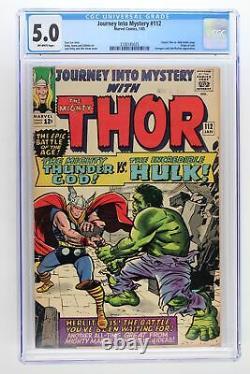 Journey Into Mystery #112 Marvel 1965 CGC 5.0 Classic Thor vs. Hulk battle iss