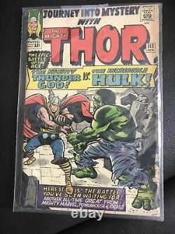 Journey Into Mystery 112 OFF WHITE PAGES THOR! HULK