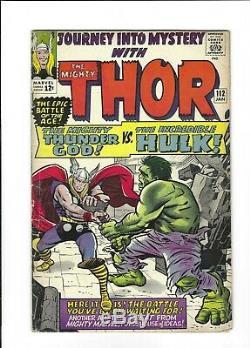 Journey Into Mystery # 112 Thor vs. Hulk & origin of Loki, 5.0 VG/FN Marvel