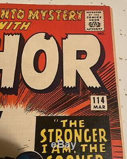 Journey Into Mystery #114 1st Absorbing Man Nice Copy (Marvel Comics)