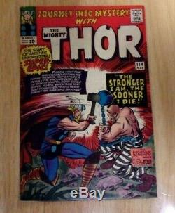 Journey Into Mystery #114 Sweet Fn 1965,1st Absorbing Man + Tales Of Asgard
