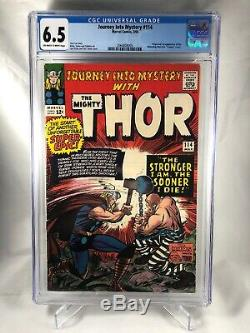 Journey Into Mystery 114 THOR/ CGC Blue 6.5 / First App Of Absorbing Man