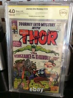 Journey Into Mystery 115 85 Cbcs Ss 4.0 Signed Tom Hiddleston Origin Of Loki