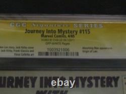 Journey Into Mystery #115 CGC 5.5 SS Signature STAN LEE Origin of Loki