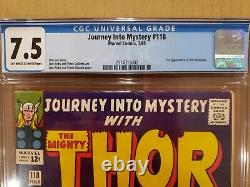 Journey Into Mystery #118 1st Appearance The Destroyer CGC NEW CASE OW-W 7.5 VF