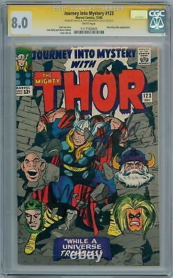 Journey Into Mystery #123 Cgc 8.0 Ss Signed Stan Lee Chris Hemsworth Thor Movie