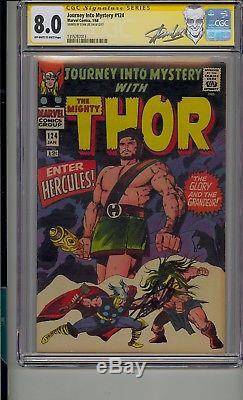 Journey Into Mystery #124 Cgc 8.0 Ss Signed Stan Lee Thor Hercules