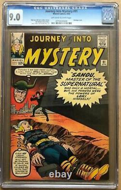 Journey Into Mystery (1952) #91 CGC 9.0 Thor 1st app Sandu (0773033009)