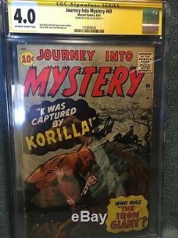 Journey Into Mystery #69 ss cgc Signed By Stan Lee First Labeled Marvel Comic