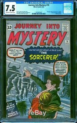 Journey Into Mystery #78 CGC 7.5 - 1962 - Dr. Strange prototype. #1970007002