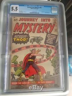 Journey Into Mystery #83 1st Thor 1962 CGC 5.5 OWithW 1st appearance KEY