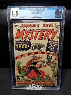 Journey Into Mystery #83 (Aug 1963, Marvel) CGC 1.5 1st Appearance of Thor