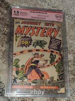 Journey Into Mystery #83 CBCS 1.5 Stan Lee & Kirby Signed 1st Appearance Thor