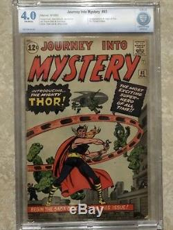 Journey Into Mystery 83 CBCS 4.0 not CGC 1st Thor Off-White PAGES 1962