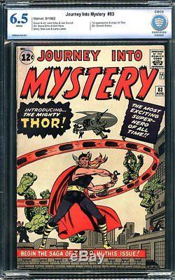 Journey Into Mystery #83 CBCS 6.5 1962 1st Thor! Avengers! WHITE! Like CGC H5 cm