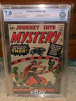 Journey Into Mystery #83 CBCS 7.0 1st Thor! 1962 Free CGC sized mylar! K10 cm