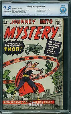 Journey Into Mystery #83 CBCS 7.5 (R) 1st Thor! Avengers! Like CGC E1 cm bo