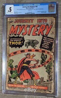 Journey Into Mystery #83 CGC 0.5 Marvel Comics 1962 Origin 1st app Thor Kirby